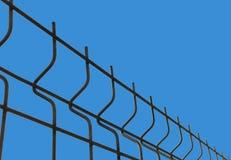 与篱芭滤网的蓝色背景 抽象背景 库存图片