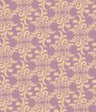 与米黄花卉主题的无缝的模式 库存照片
