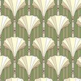 与米黄花卉主题的无缝的模式 免版税库存照片