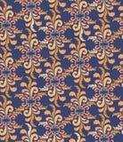 与米黄花饰的无缝的纹理 图库摄影