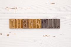 与类型集合字法的感恩主题的背景 库存图片