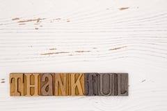 与类型集合字法的感恩主题的背景 免版税库存照片