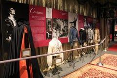 与精妙的服装的惊人的世界展览和时间安排使舞蹈家鲁道夫・纽瑞耶夫,全国舞蹈博物馆,萨拉托加有名望, 2016年 库存照片