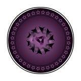 与精心制作的样式的圆的装饰品在丁香 皇族释放例证