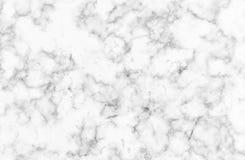 与精美静脉的白色和灰色大理石纹理 免版税库存图片