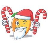 与糖果杏子吉祥人动画片样式的圣诞老人 图库摄影