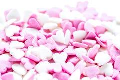 与糖candys的棒棒糖设计在甜texure摘要backg 库存图片