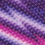 与紫罗兰色和桃红色三角的抽象背景 库存例证