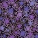 与紫色和桃红色翠菊的花卉抽象无缝的样式 向量 免版税图库摄影