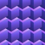与紫色立方体的无缝的样式 库存照片