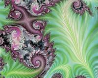 与紫色边缘的石灰波浪 皇族释放例证