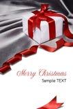 与红色丝带的礼品 免版税库存图片