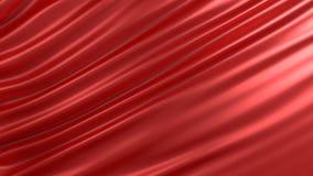 与红色丝绸的背景 图象例证 3d翻译 免版税库存照片