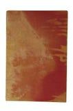 与红色亚麻制盖子的旧书 库存照片