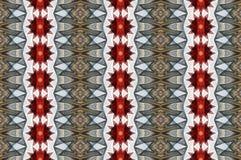 与红色和灰色星的数字式艺术设计无缝的样式 免版税库存图片