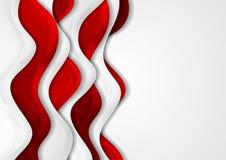 与红色和灰色的抽象公司背景挥动 库存图片