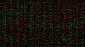 与红色和绿色区段的抽象数字式噪声样式 股票录像