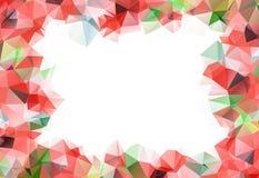 与红色和绿色圣诞节的美好的花卉背景 库存照片