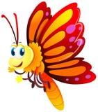 与红色和黄色翼的蝴蝶 库存例证