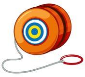 与红色圆环的橙色溜溜球 皇族释放例证