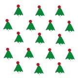 与红色小点的滑稽的绿色冷杉木 免版税库存图片