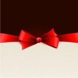 与红色弓的节假日背景 库存照片