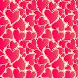 与红色心脏的抽象封皮 图库摄影