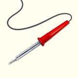 与红色把柄的焊铁 库存例证