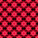 与红色星的无缝的样式 库存例证