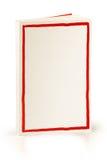 与红色框架-裁减路线的书 库存图片