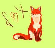 与红色毛皮的逗人喜爱的狐狸 皇族释放例证