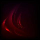 与红色波浪的传染媒介背景 库存例证