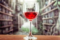 与红色液体鸡尾酒的玻璃 免版税库存图片