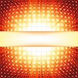 与红色火光爆炸的技术正方形。EPS 10 库存图片