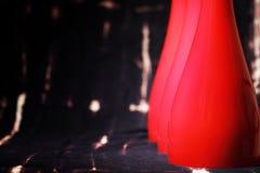 与红色灯罩的抽象背景 免版税库存图片