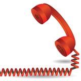 红色电话 免版税库存图片