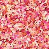 与红色的情人节无缝的样式,桃红色,淡色小心脏 10 eps 库存例证
