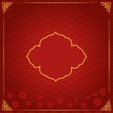 与红色的春节传统模板 皇族释放例证