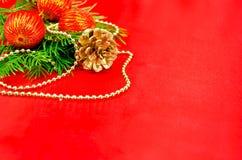 与红色范围的圣诞节框架 免版税库存图片