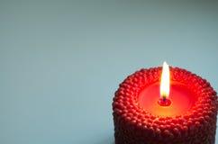 与红色蜡烛的背景 库存图片