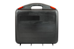 与红色选项的塑料黑toolcase 免版税库存图片