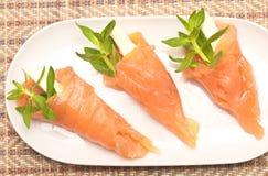 与红色鱼的开胃菜 库存照片