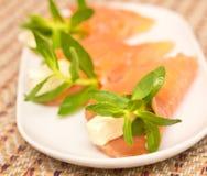 与红色鱼的开胃菜 免版税图库摄影