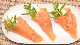 与红色鱼的开胃菜 库存图片