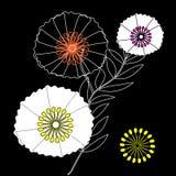 与红色鸦片的柔和的花卉背景 纺织品的样式 免版税图库摄影