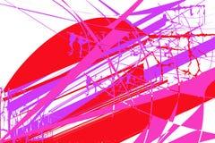 与红色,淡紫色和桃红色元素的抽象样式 向量例证