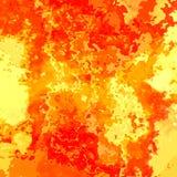 与红色黑的概述-现代绘画艺术的被弄脏的无缝的样式纹理背景火热的颜色-,黄色,橙色 免版税库存图片