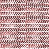 与红色ikat肋骨的无缝的水彩样式 免版税库存图片