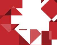 与红色sqares的抽象几何背景 皇族释放例证