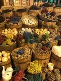 与纪念品的埃及市场 图库摄影